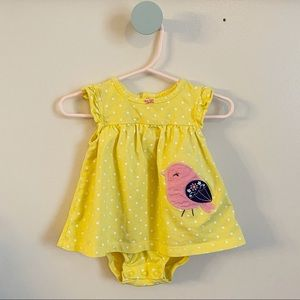 Baby Girls Yellow Sleeveless Sunsuit Onesie
